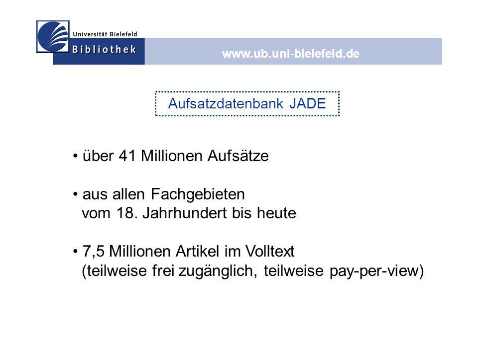 Aufsatzdatenbank JADE