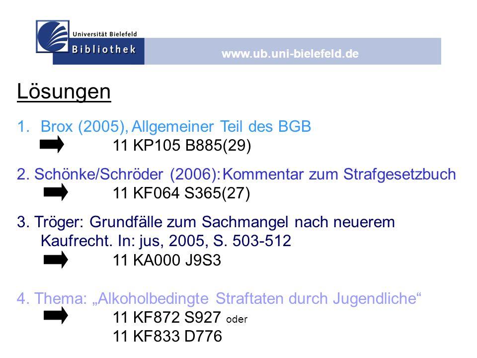 Lösungen Brox (2005), Allgemeiner Teil des BGB 11 KP105 B885(29)