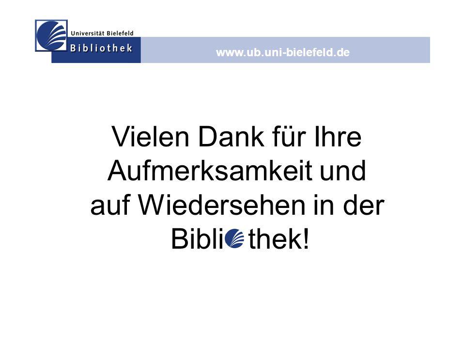 auf Wiedersehen in der Bibli thek!