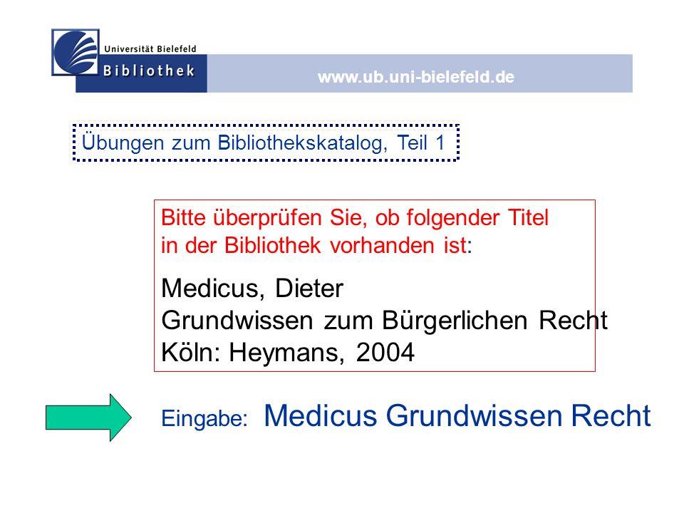Grundwissen zum Bürgerlichen Recht Köln: Heymans, 2004