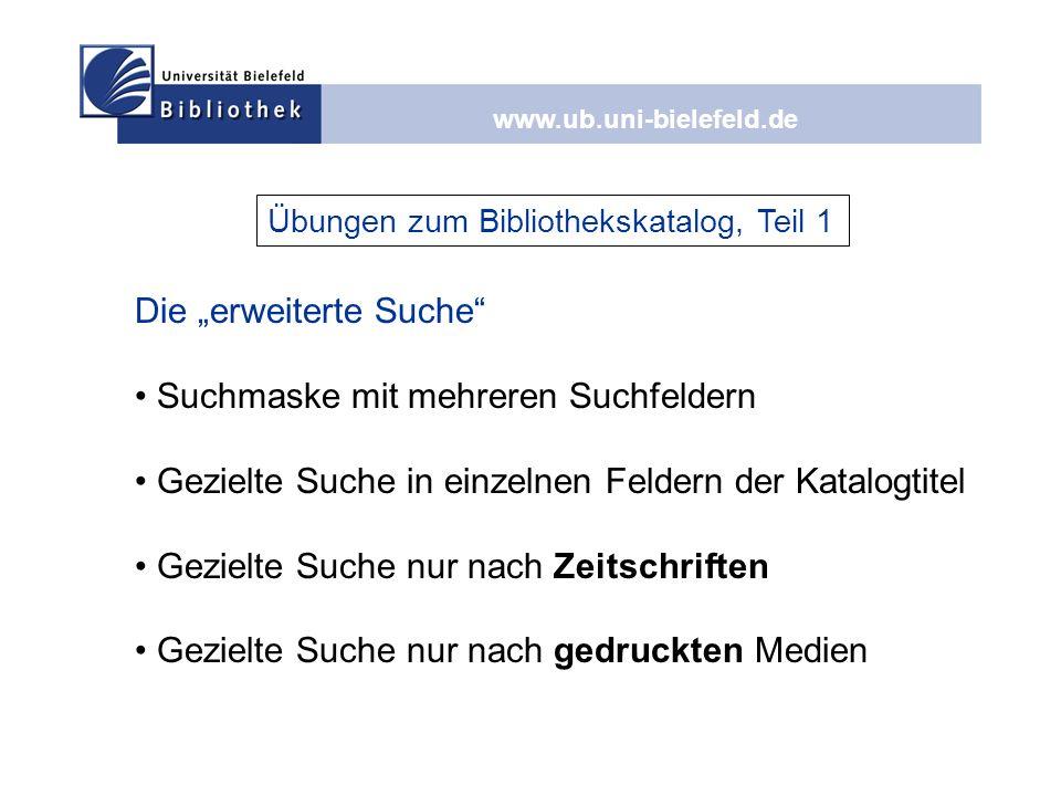 """Die """"erweiterte Suche Suchmaske mit mehreren Suchfeldern"""