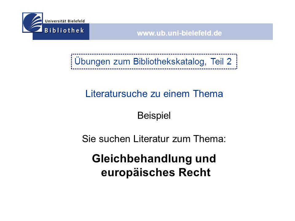 Gleichbehandlung und europäisches Recht