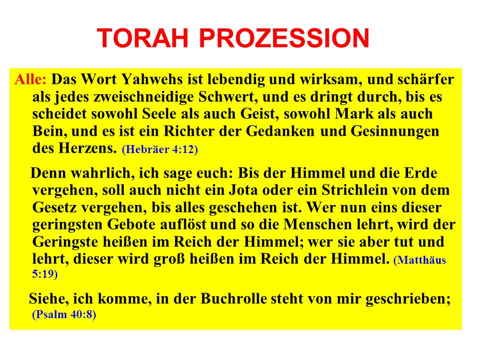 TORAH PROZESSION