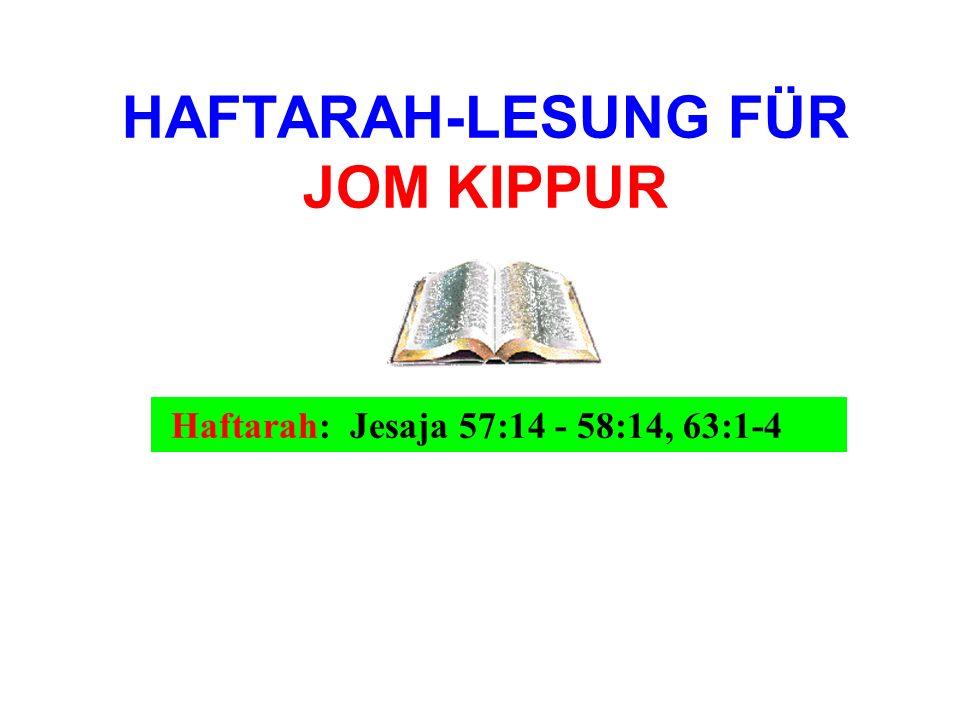 HAFTARAH-LESUNG FÜR JOM KIPPUR