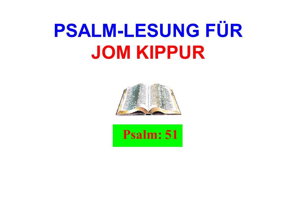 PSALM-LESUNG FÜR JOM KIPPUR