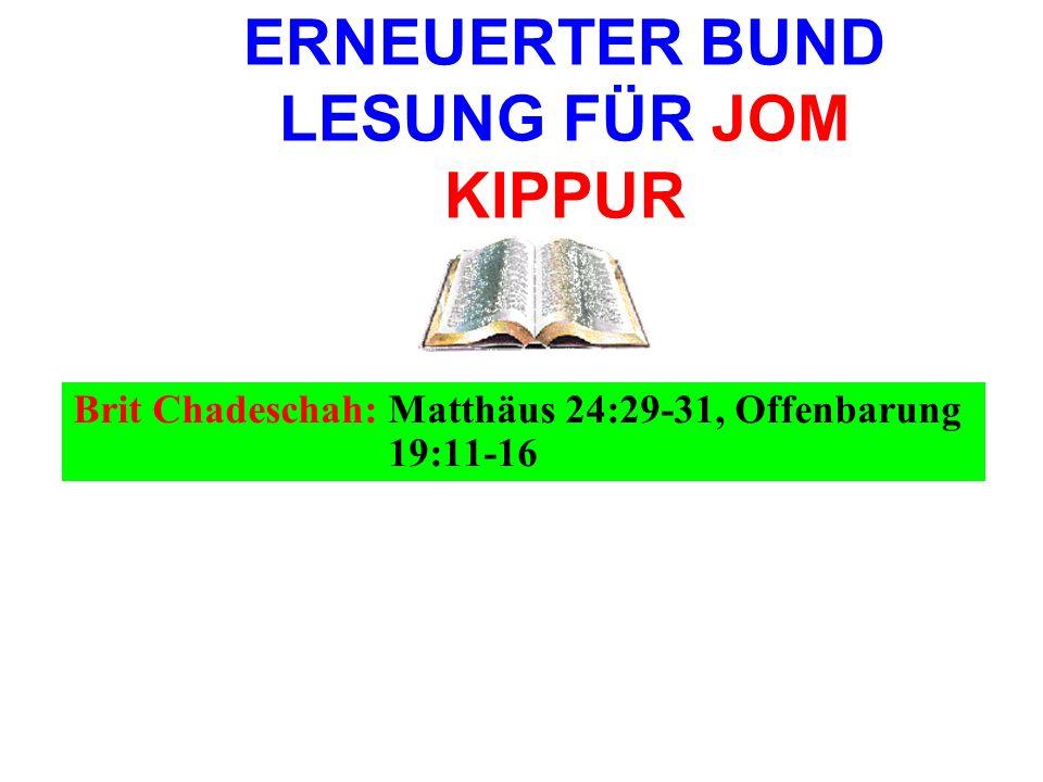 ERNEUERTER BUND LESUNG FÜR JOM KIPPUR