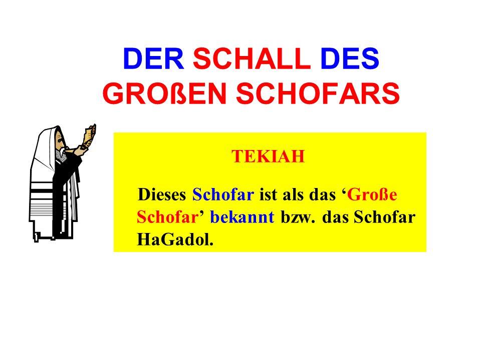 DER SCHALL DES GROßEN SCHOFARS