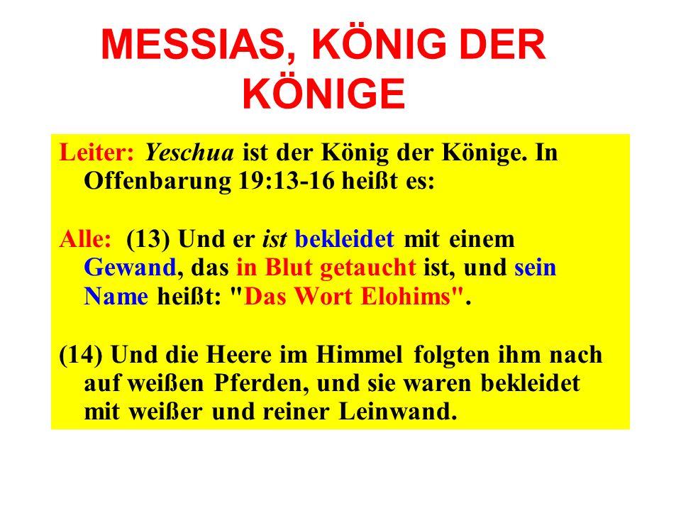 MESSIAS, KÖNIG DER KÖNIGE