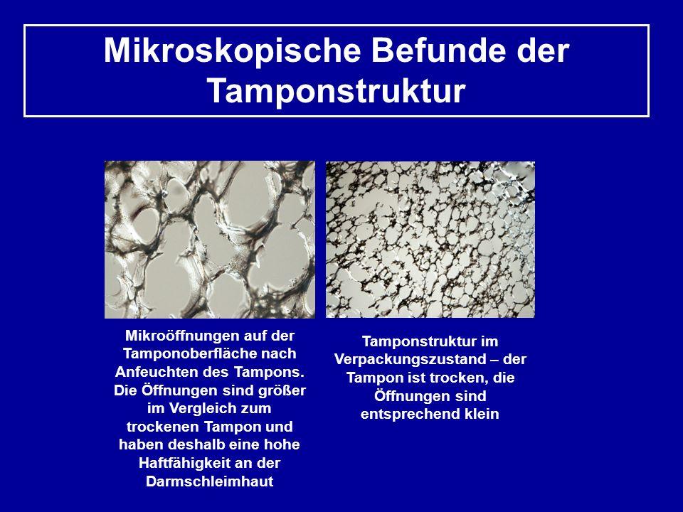 Mikroskopische Befunde der Tamponstruktur