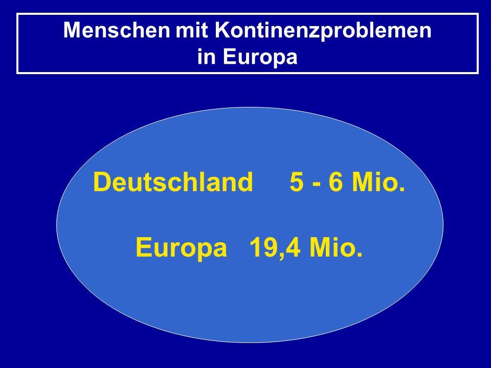 Menschen mit Kontinenzproblemen in Europa