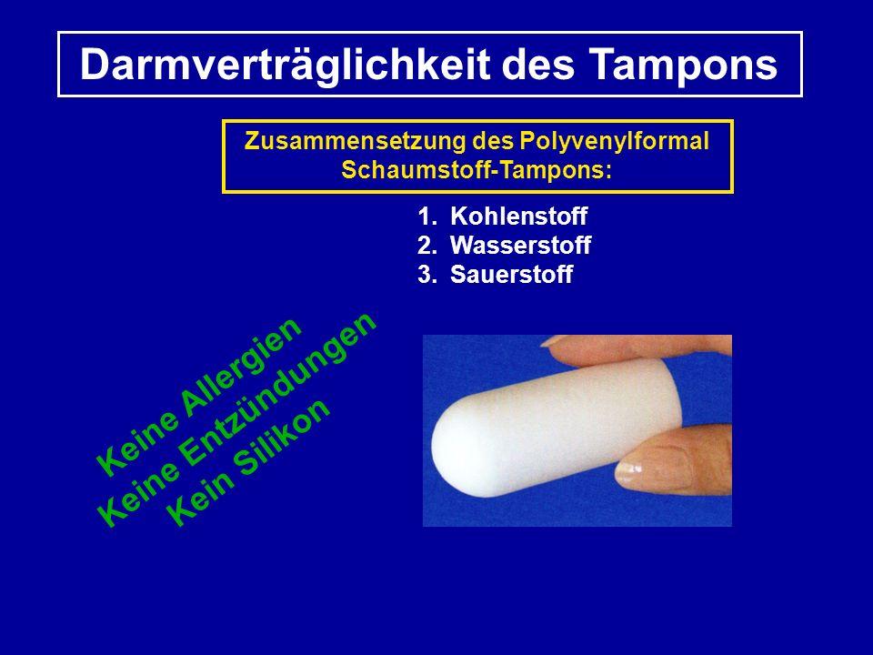 Darmverträglichkeit des Tampons