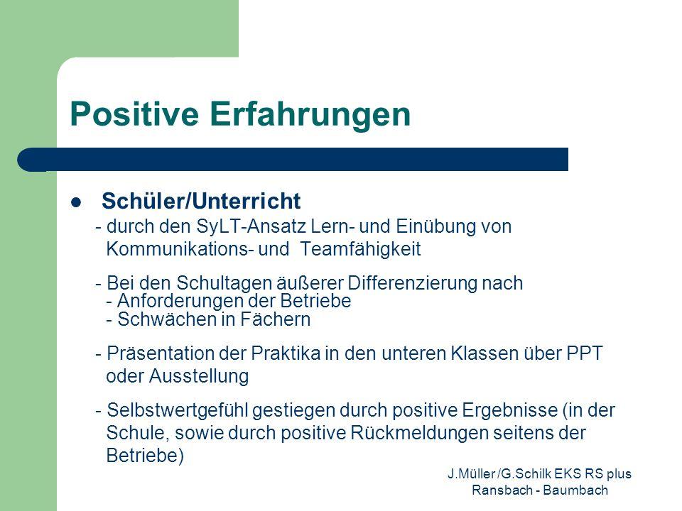J.Müller /G.Schilk EKS RS plus Ransbach - Baumbach