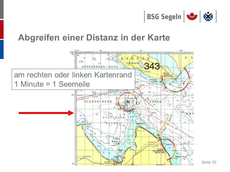 Abgreifen einer Distanz in der Karte