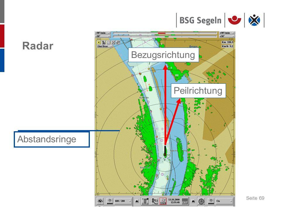 Radar Bezugsrichtung Peilrichtung Abstandsringe