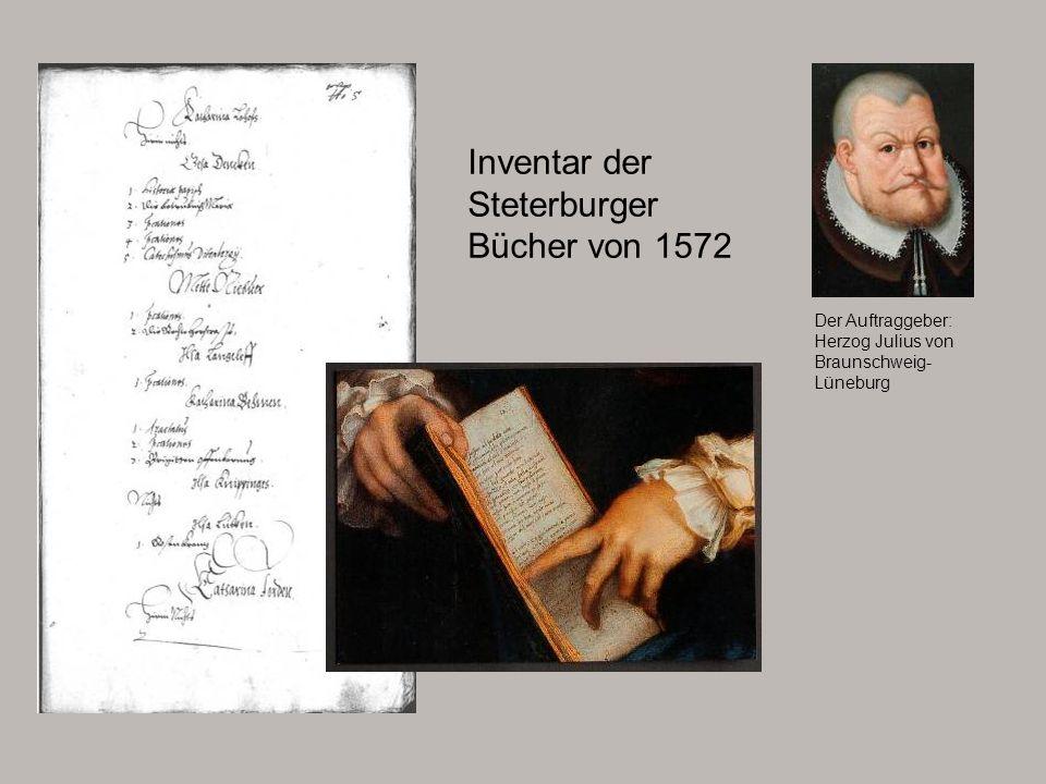 Inventar der Steterburger Bücher von 1572