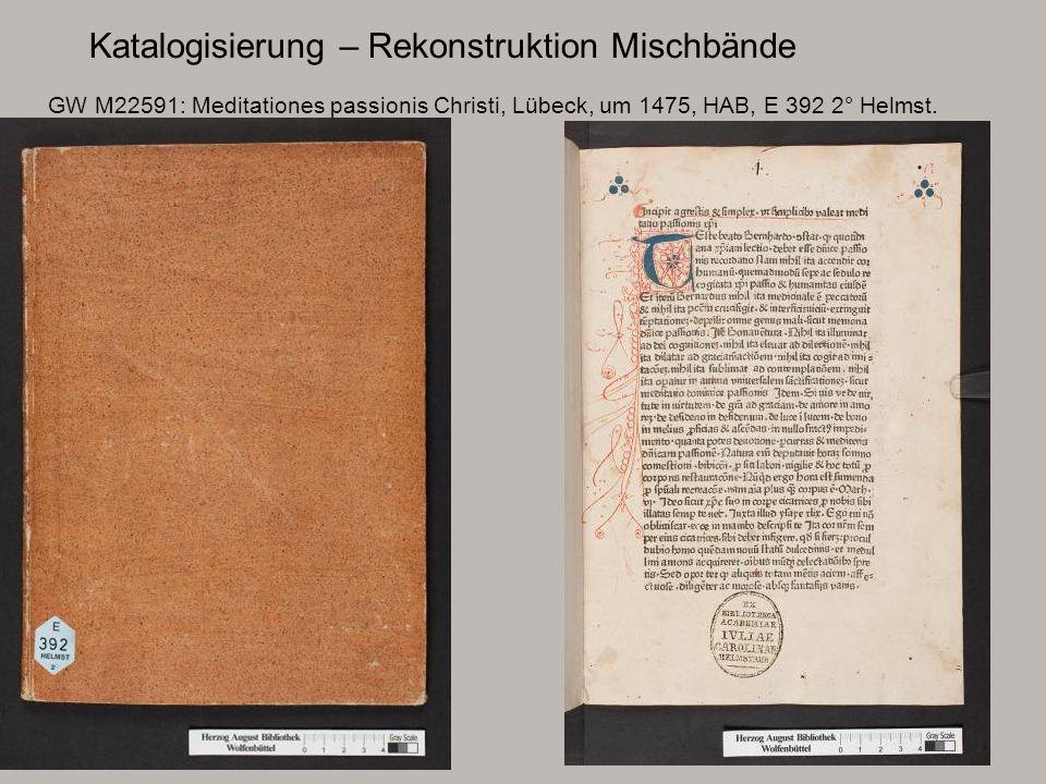 Katalogisierung – Rekonstruktion Mischbände