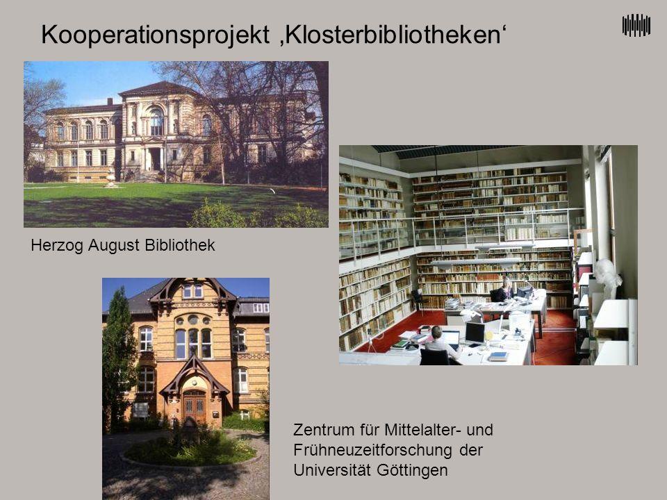 Kooperationsprojekt 'Klosterbibliotheken'
