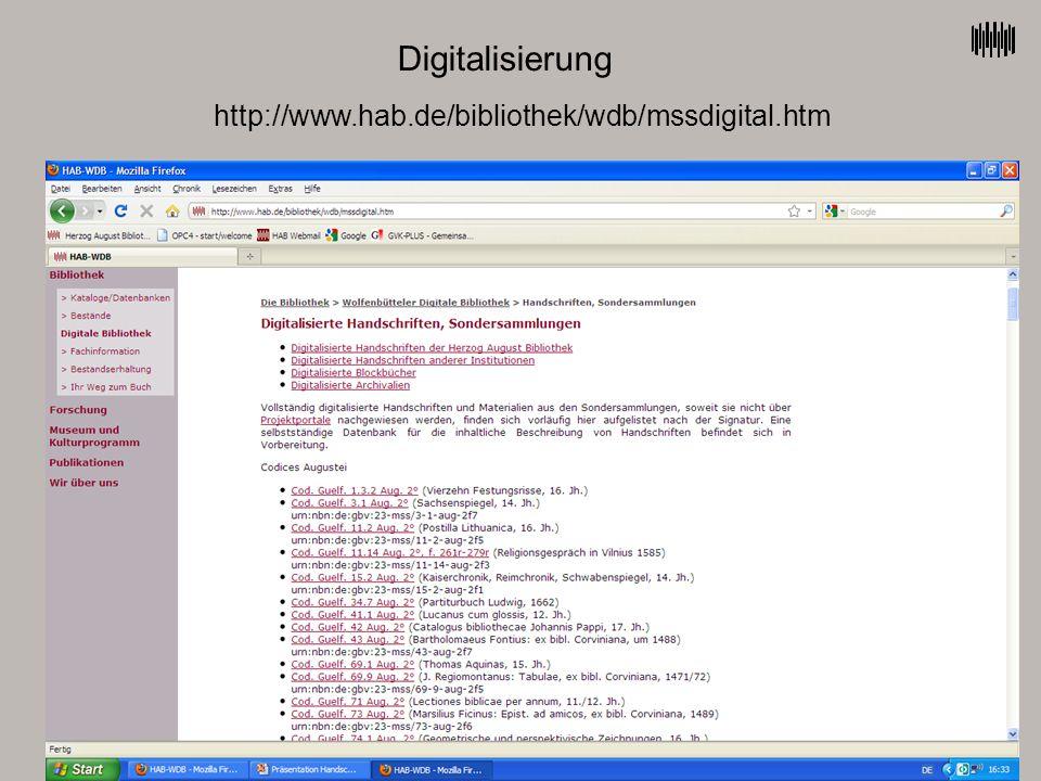 Digitalisierung http://www.hab.de/bibliothek/wdb/mssdigital.htm