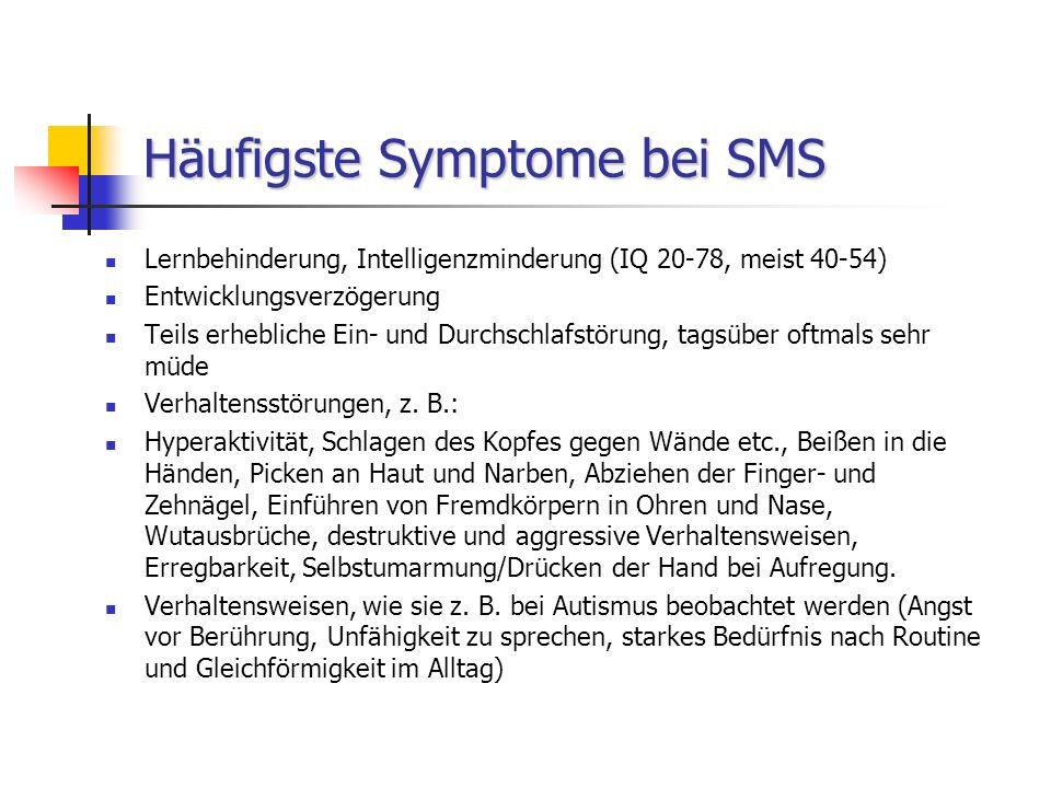 Häufigste Symptome bei SMS