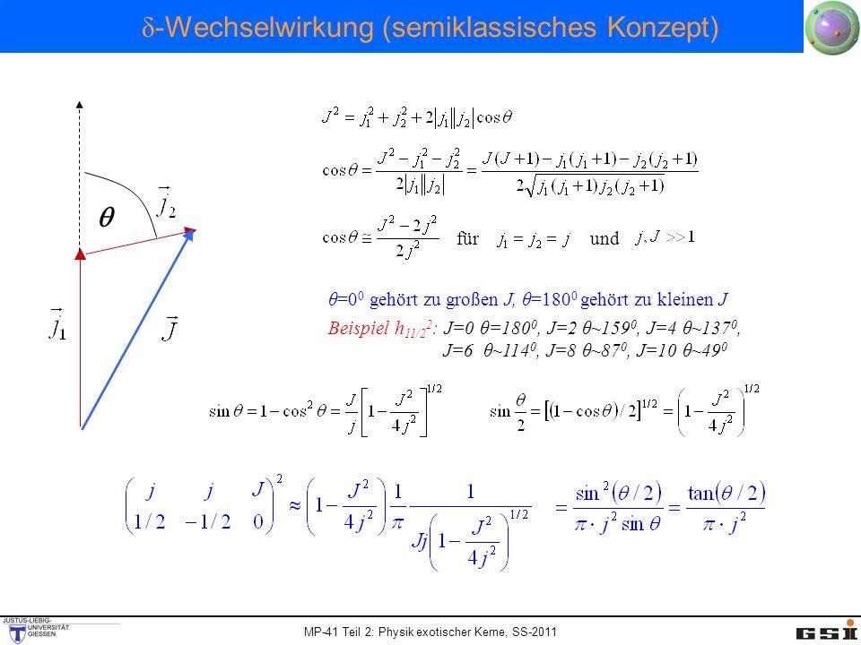 δ-Wechselwirkung (semiklassisches Konzept)