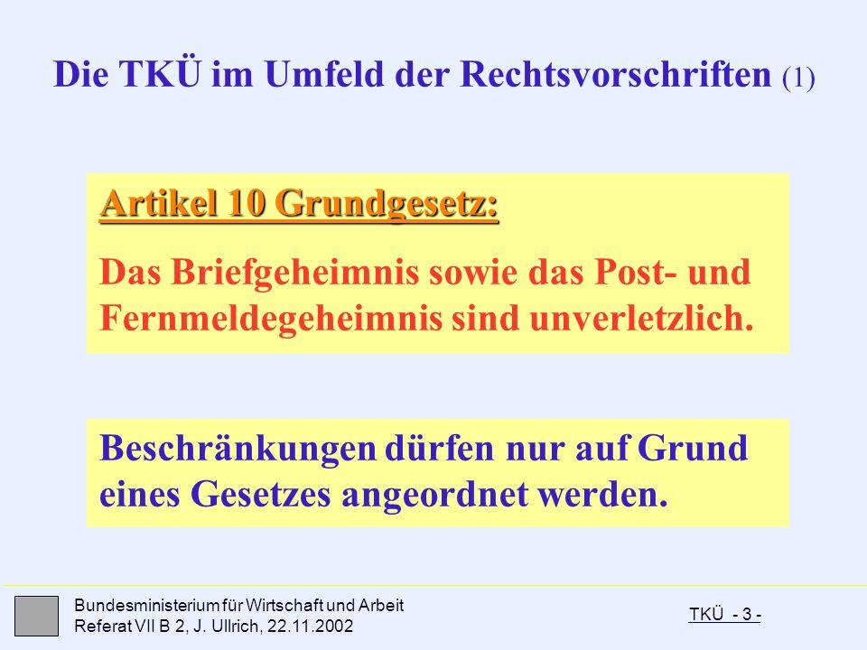 Die TKÜ im Umfeld der Rechtsvorschriften (1)