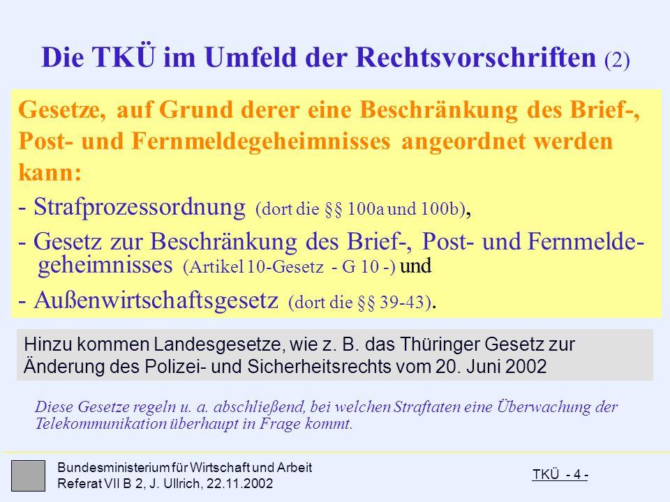 Die TKÜ im Umfeld der Rechtsvorschriften (2)