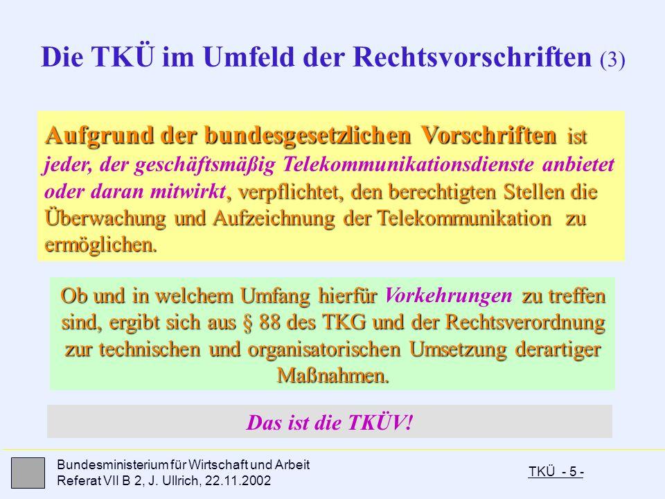 Die TKÜ im Umfeld der Rechtsvorschriften (3)
