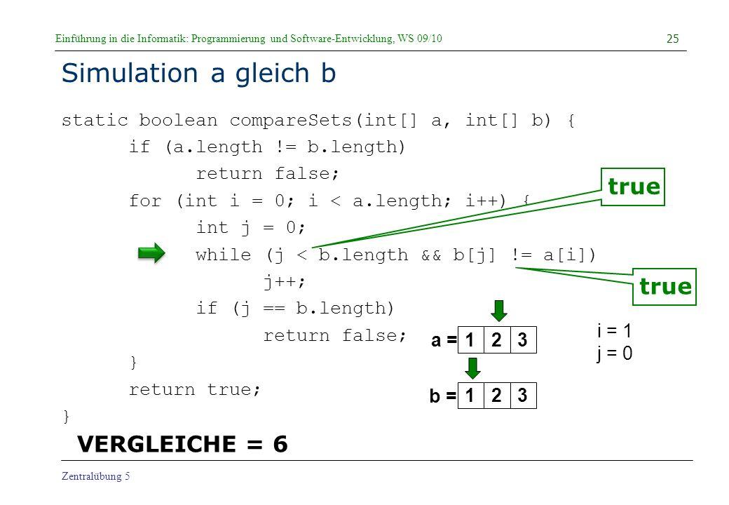 Simulation a gleich b true true VERGLEICHE = 6