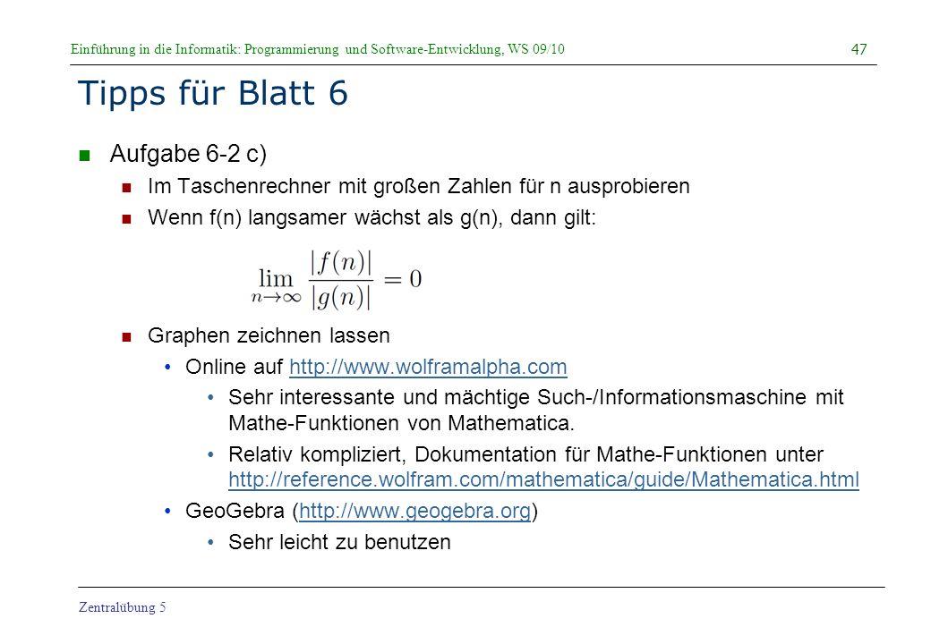 Tipps für Blatt 6 Aufgabe 6-2 c)
