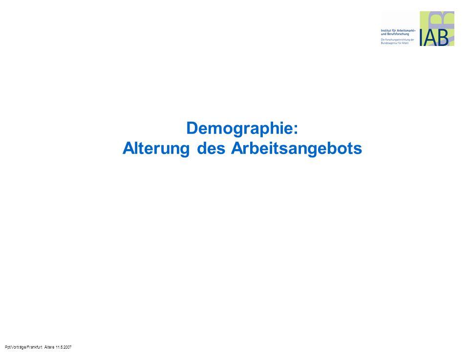 Demographie: Alterung des Arbeitsangebots