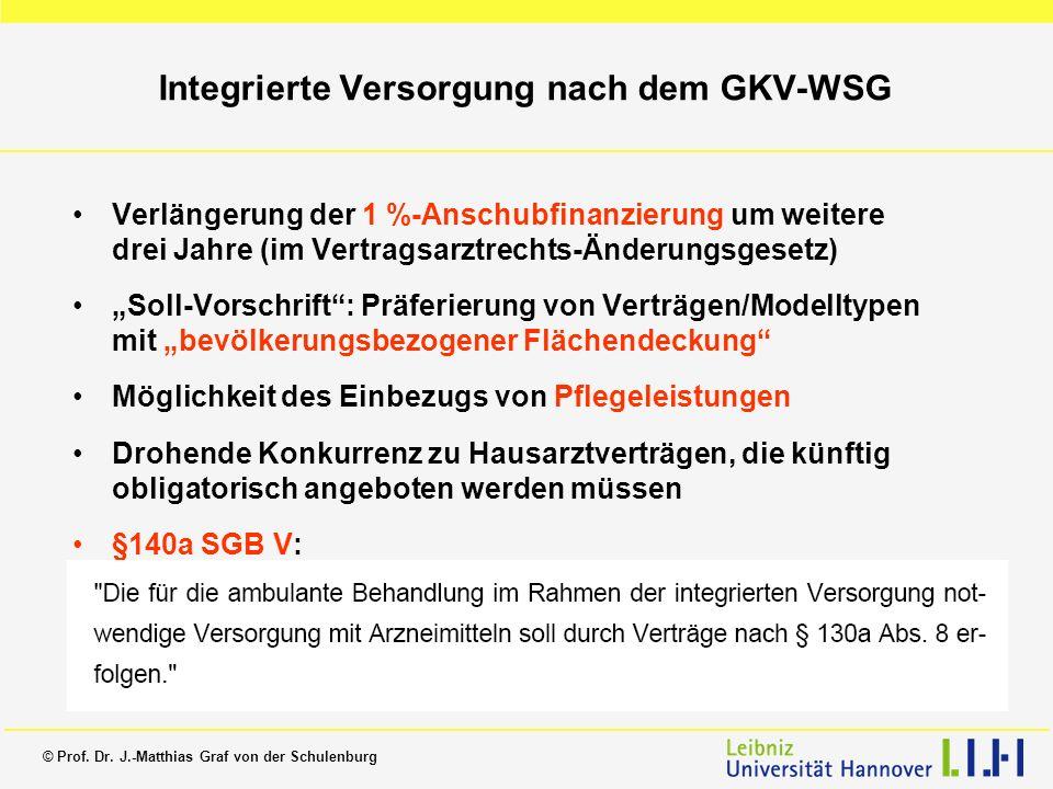 Integrierte Versorgung nach dem GKV-WSG