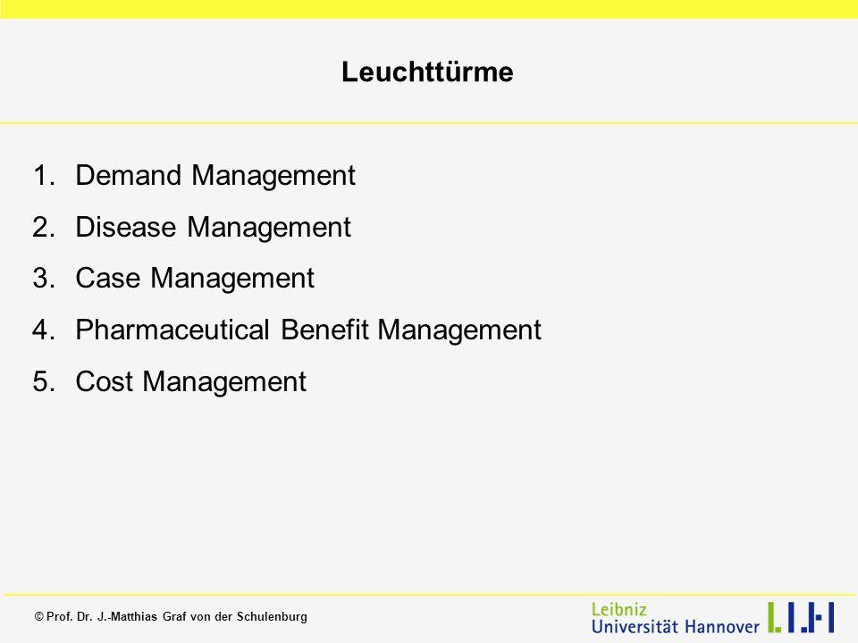 LeuchttürmeDemand Management. Disease Management. Case Management. Pharmaceutical Benefit Management.