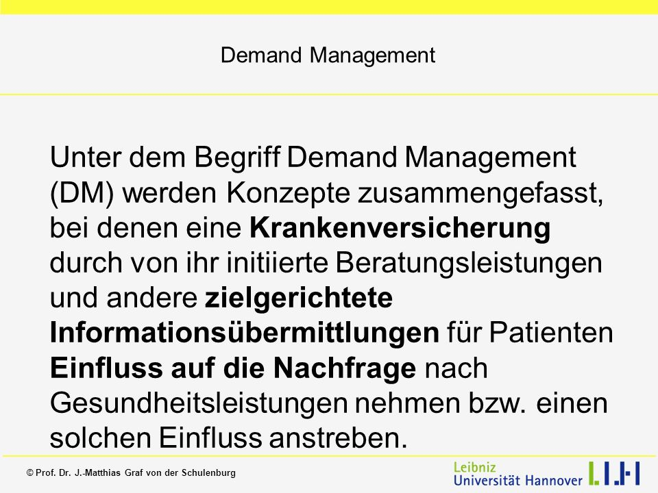 Demand Management