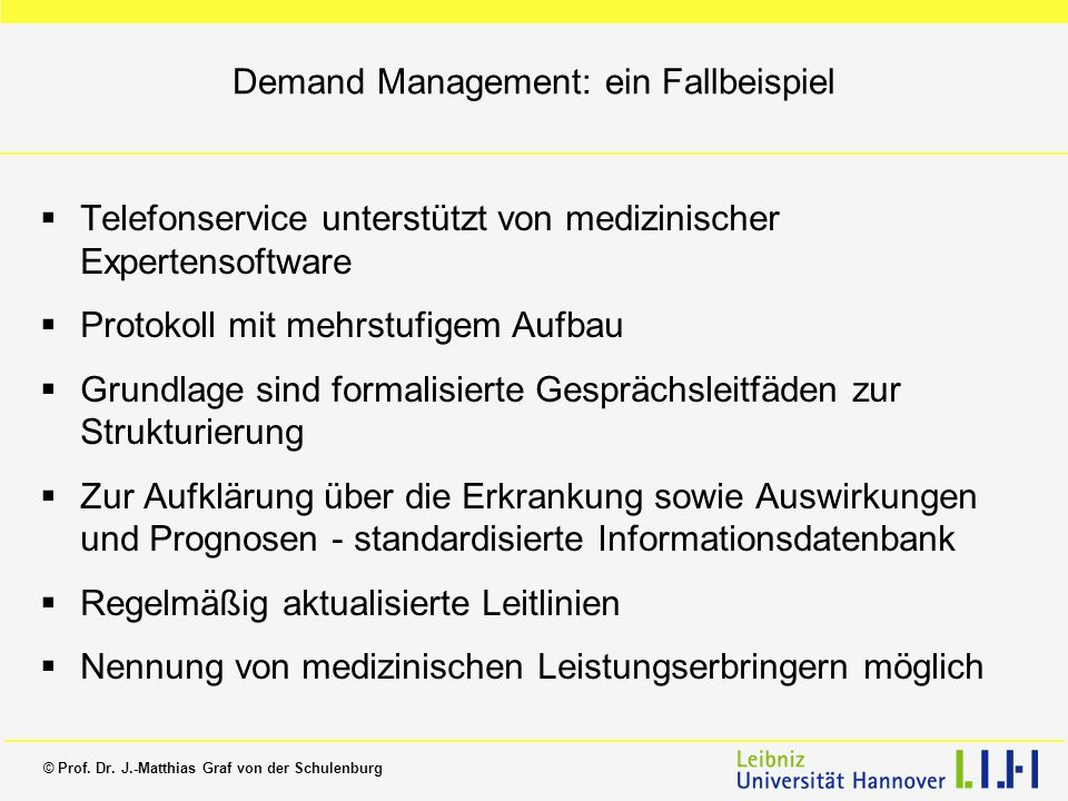 Demand Management: ein Fallbeispiel