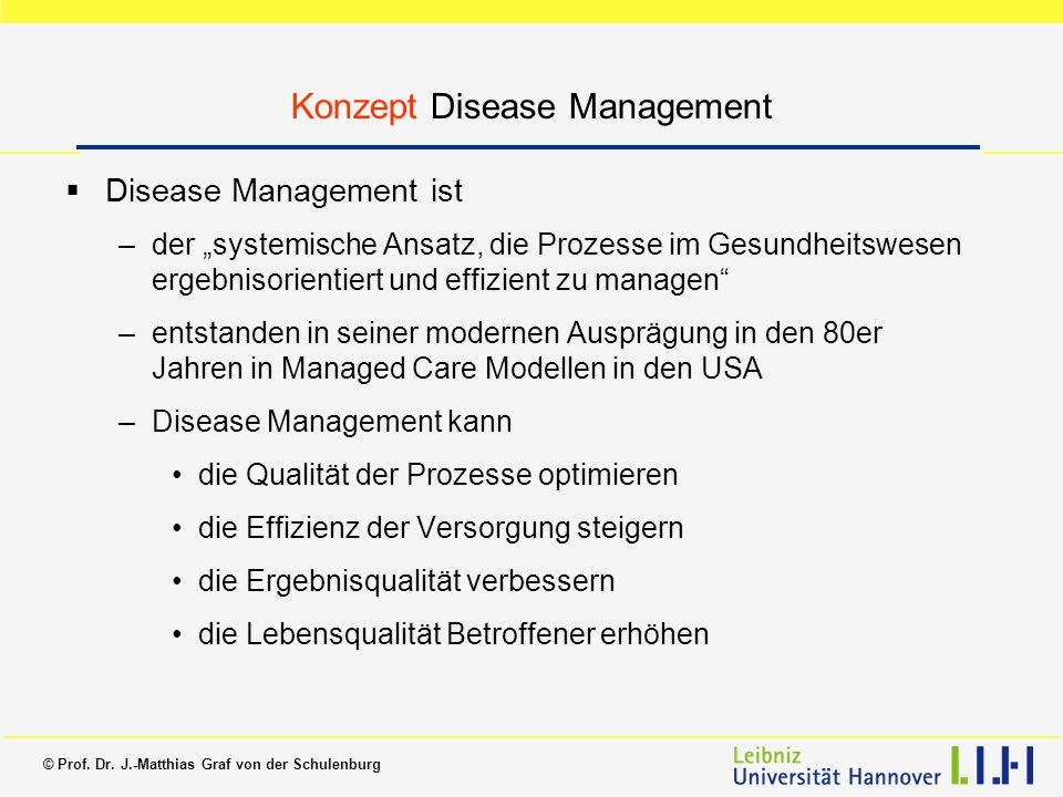 Konzept Disease Management