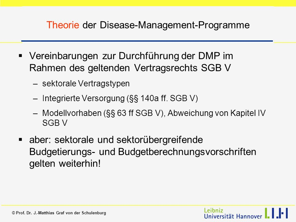 Theorie der Disease-Management-Programme