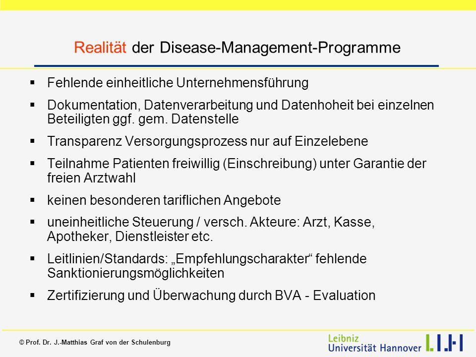 Realität der Disease-Management-Programme