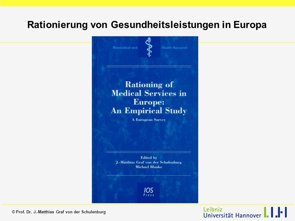 Rationierung von Gesundheitsleistungen in Europa