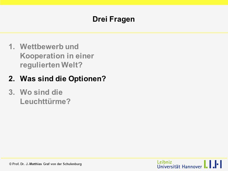 Drei Fragen Wettbewerb und Kooperation in einer regulierten Welt.