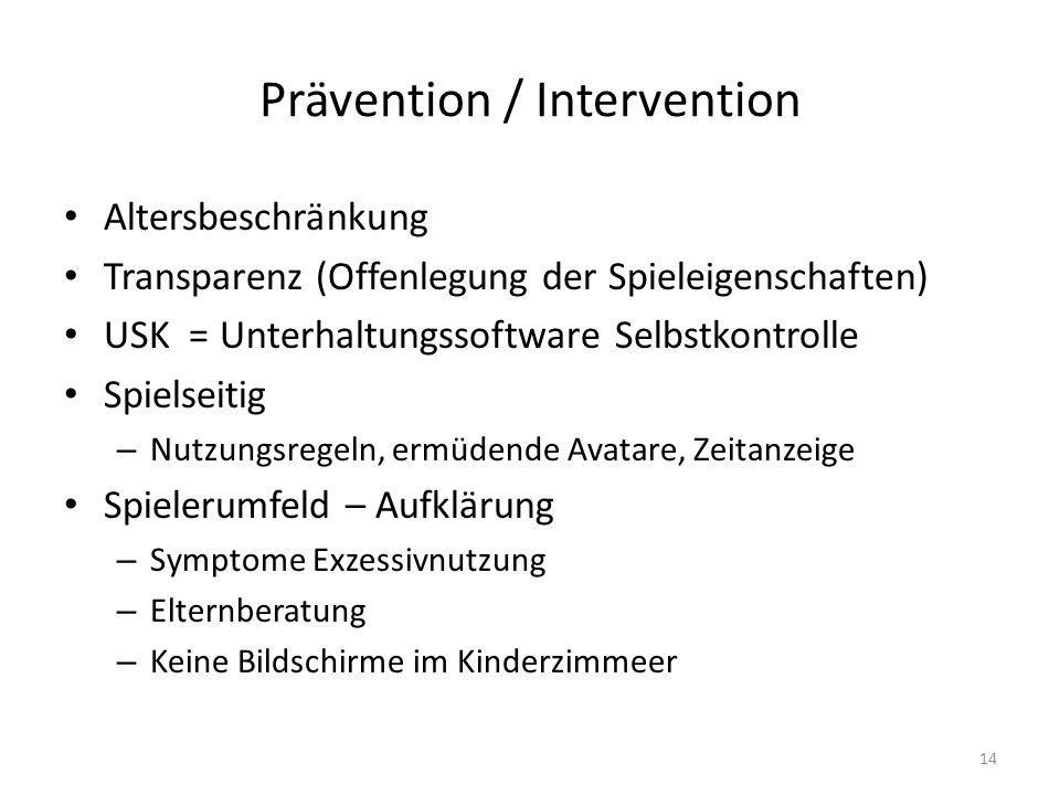 Prävention / Intervention