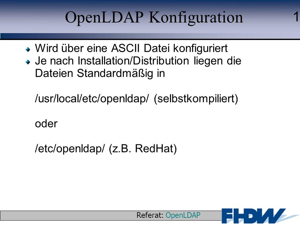 OpenLDAP Konfiguration