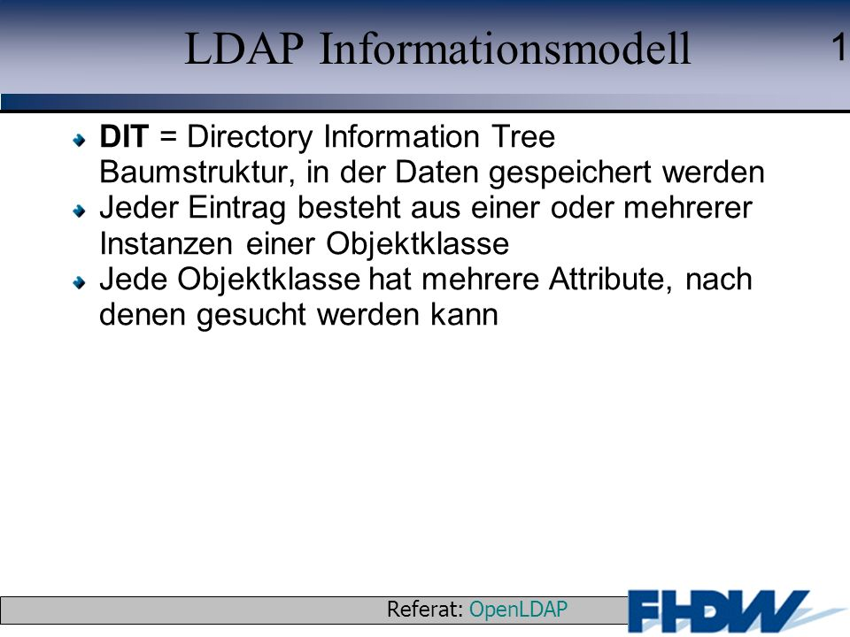 LDAP Informationsmodell