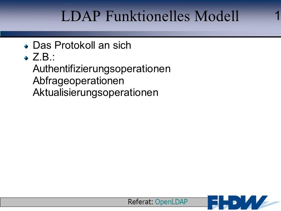 LDAP Funktionelles Modell