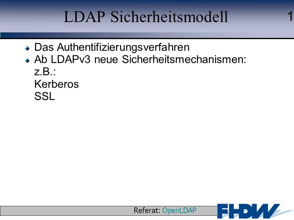 LDAP Sicherheitsmodell