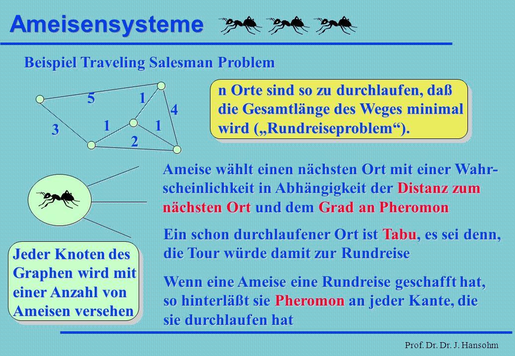 Ameisensysteme Beispiel Traveling Salesman Problem