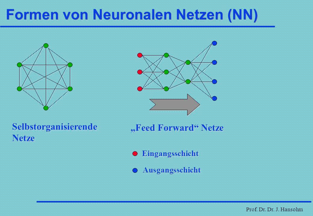 Formen von Neuronalen Netzen (NN)