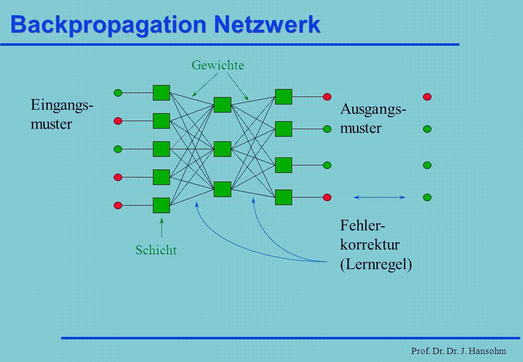 Backpropagation Netzwerk