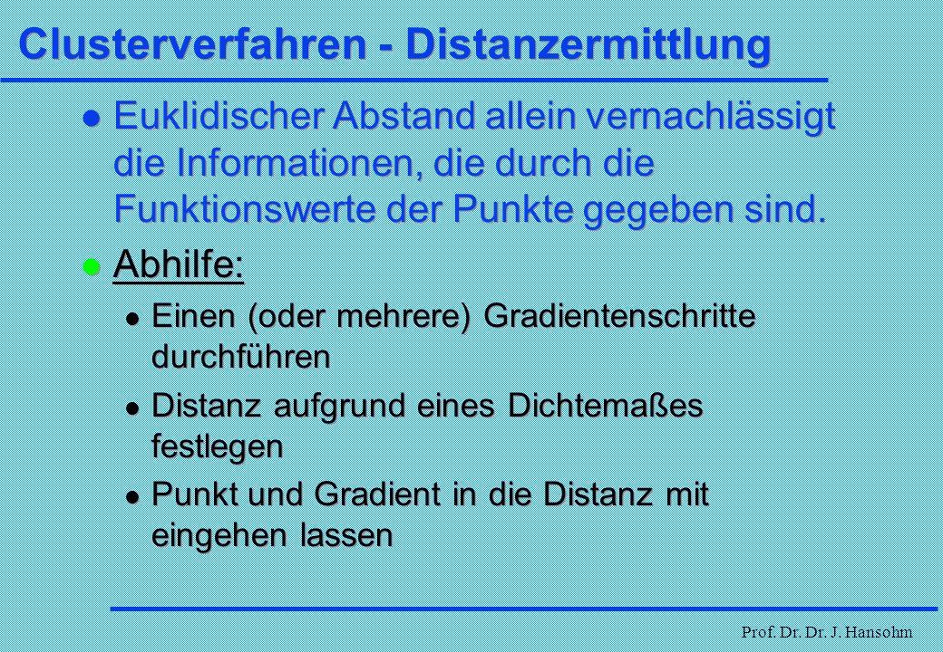 Clusterverfahren - Distanzermittlung