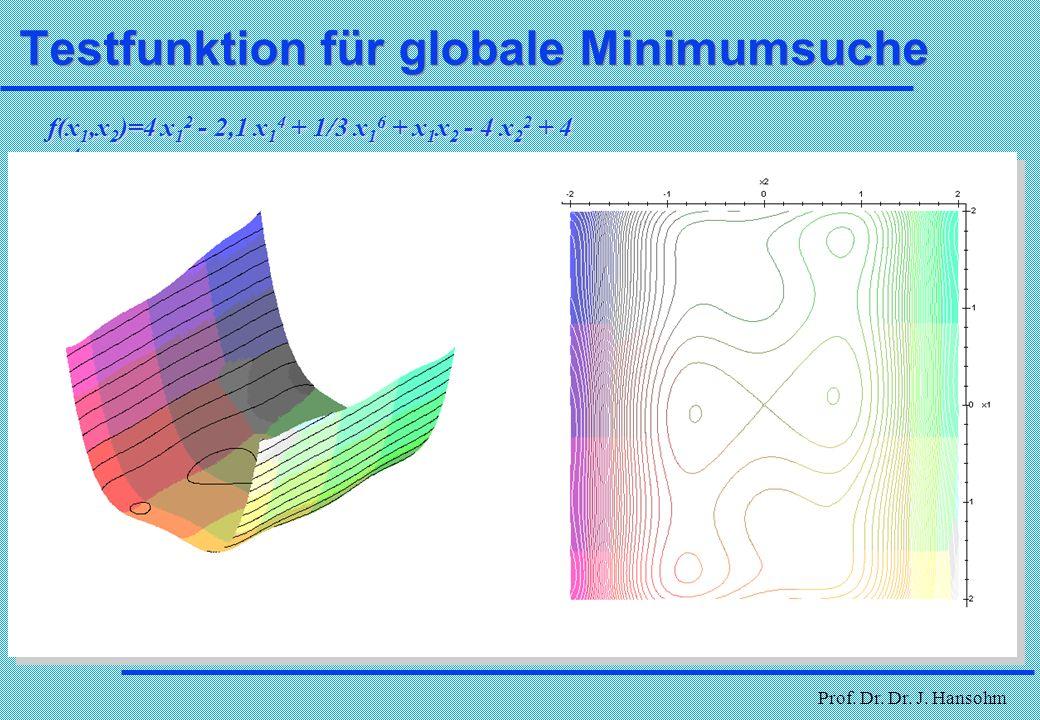 Testfunktion für globale Minimumsuche
