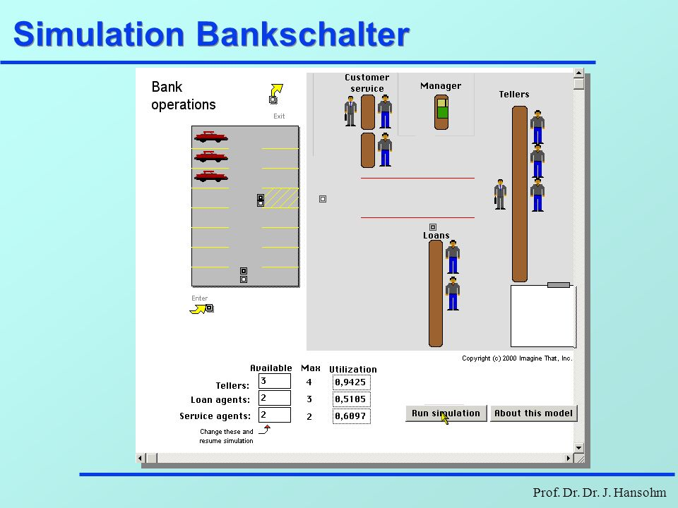 Simulation Bankschalter